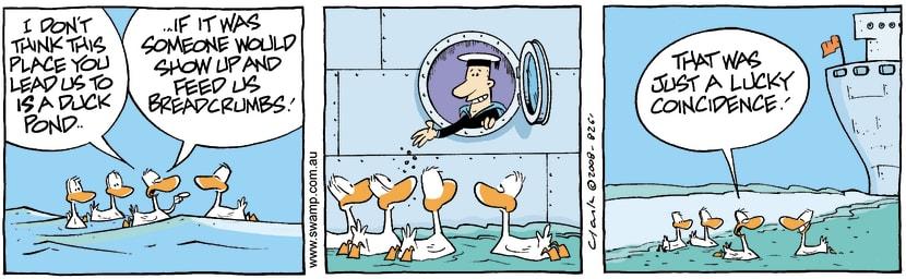 Swamp Cartoon - All at sea 2February 28, 2008
