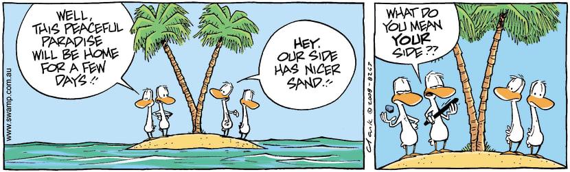 Swamp Cartoon - All at sea 4March 1, 2008