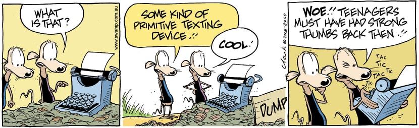Swamp Cartoon - Modern technology 1March 7, 2008