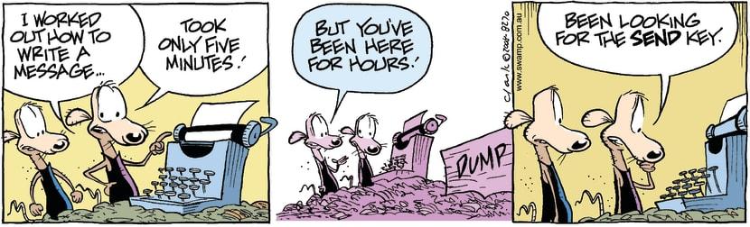 Swamp Cartoon - Modern technology 3March 10, 2008