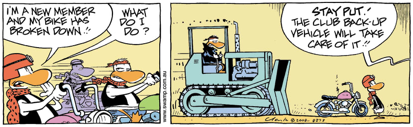 Swamp Cartoon - Biker Mayhem 1March 13, 2008