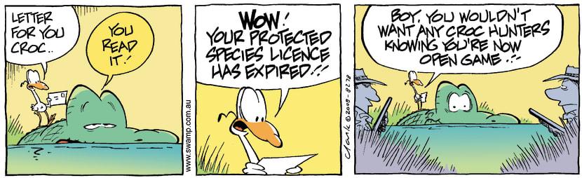Swamp Cartoon - In Big Trouble1March 19, 2008