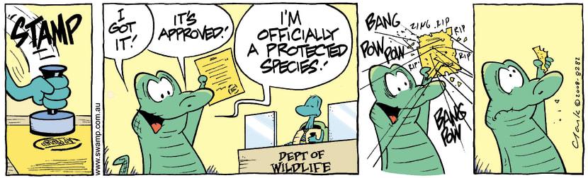 Swamp Cartoon - In Big Trouble 5March 24, 2008