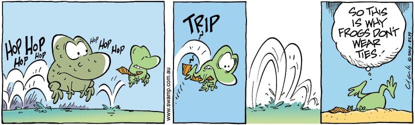 Swamp Cartoon - Sharp Dressed Frog 3April 12, 2008