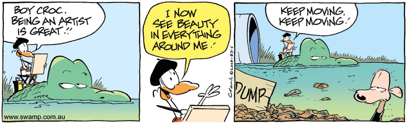 Swamp Cartoon - Beauty is in the eye 3May 2, 2008