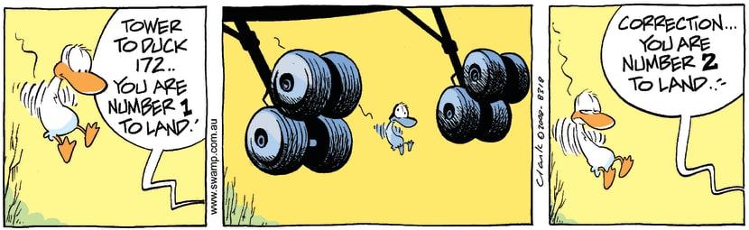 Swamp Cartoon - Waiting in LineMay 5, 2008