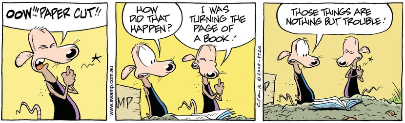 Swamp Cartoon - Book Lover 1May 12, 2008