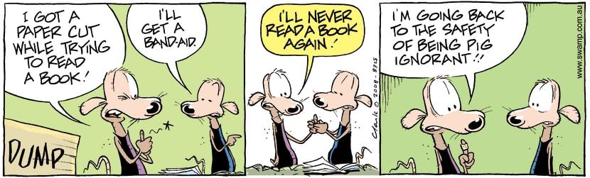 Swamp Cartoon - Book Lover 2May 13, 2008