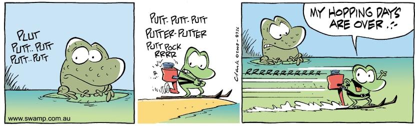 Swamp Cartoon - Mobile Frog 1May 14, 2008