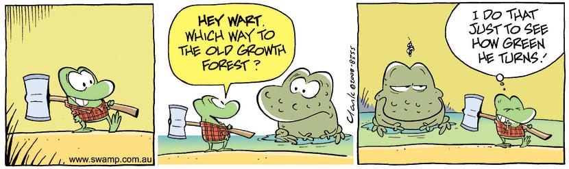 Swamp Cartoon - The GagJune 17, 2008