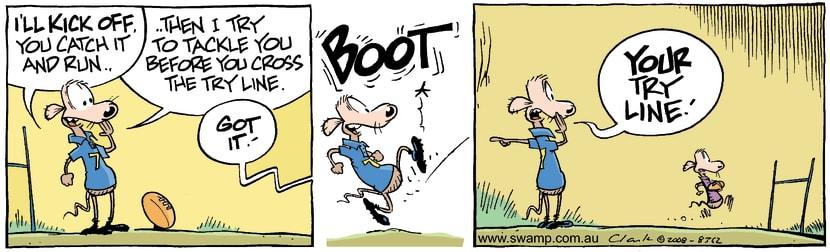 Swamp Cartoon - Footy Fun 2June 25, 2008