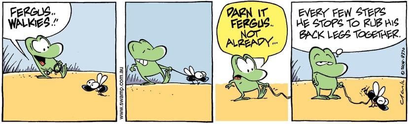 Swamp Cartoon - Walkies TimeJuly 4, 2008