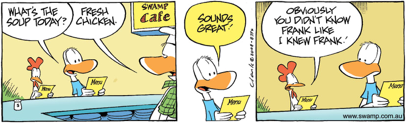 Swamp Cartoon - Dining Out Fun 4August 1, 2008