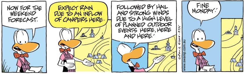 Swamp Cartoon - Weather Forecast ComicAugust 4, 2008