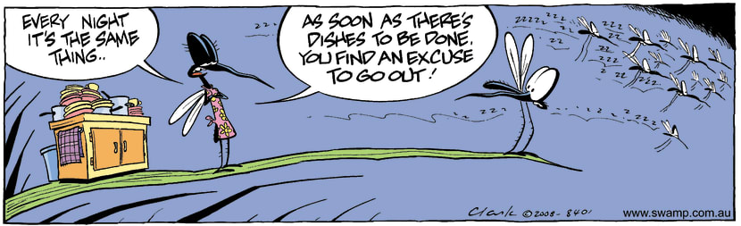 Swamp Cartoon - Another Night Out?August 9, 2008