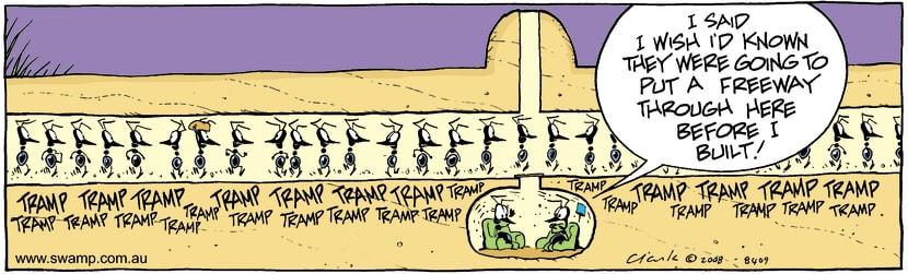 Swamp Cartoon - Development BluesAugust 19, 2008