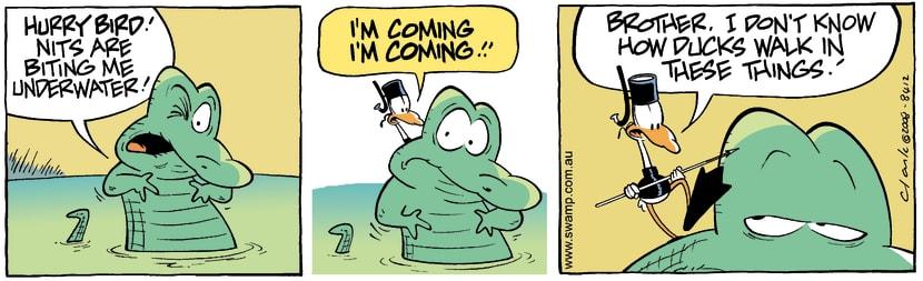 Swamp Cartoon - In above his head 2August 22, 2008