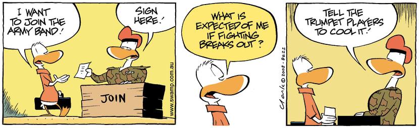 Swamp Cartoon - Recruit Request 1September 3, 2008