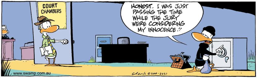 Swamp Cartoon - Court RecessSeptember 9, 2008