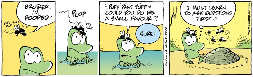 Swamp Cartoon - New Friend 1September 15, 2008