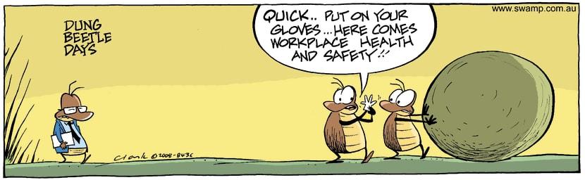 Swamp Cartoon - Dung Beetle Days 1September 19, 2008
