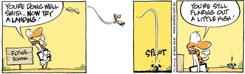 Swamp Cartoon - Little details….September 23, 2008