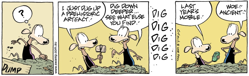 Swamp Cartoon - Treasure HuntSeptember 29, 2008