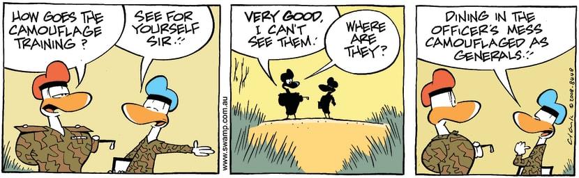 Swamp Cartoon - Hiding TechniquesOctober 3, 2008