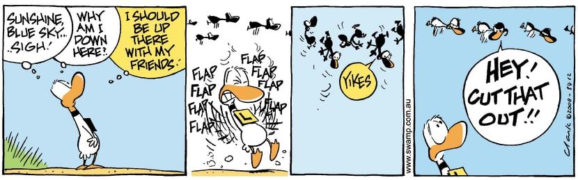 Swamp Cartoon - Flock TogetherOctober 20, 2008