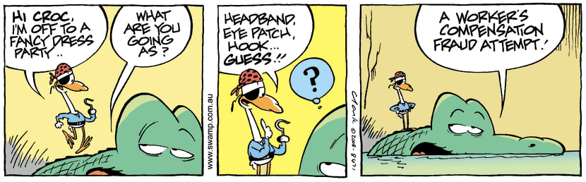 Swamp Cartoon - Fancy Dressed Bird 1October 30, 2008