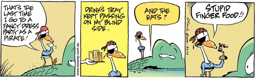 Swamp Cartoon - Fancy Dressed Bird 3November 1, 2008