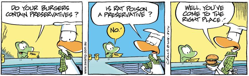 Swamp Cartoon - Dietary ConcernsNovember 3, 2008