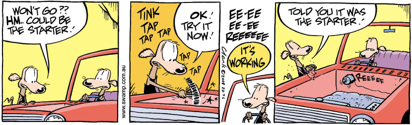 Swamp Cartoon - That's for Starters!November 5, 2008