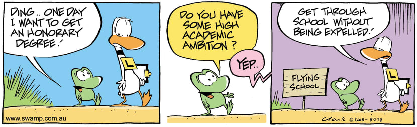 Swamp Cartoon - Ambitious TalkNovember 7, 2008
