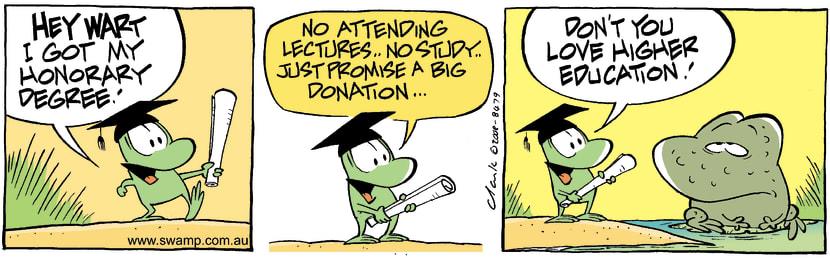 Swamp Cartoon - The Big AchievementNovember 8, 2008