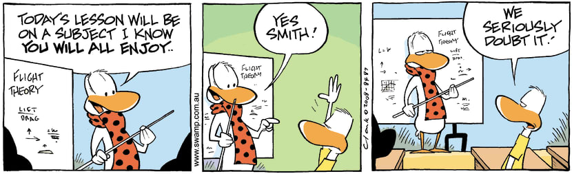 Swamp Cartoon - Doubting ThomasNovember 18, 2008