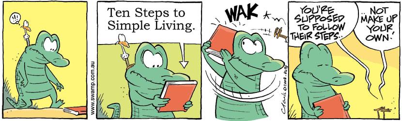 Swamp Cartoon - Simple Living 1December 1, 2008