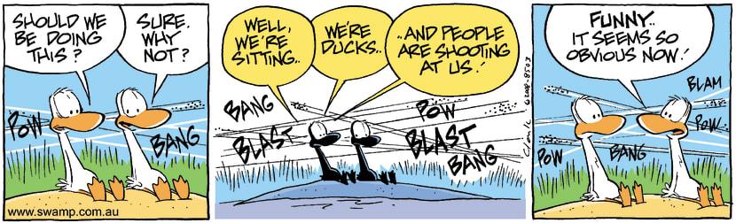 Swamp Cartoon - Poor AimDecember 6, 2008