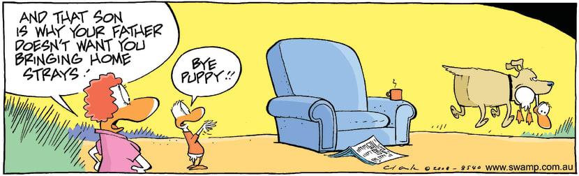 Swamp Cartoon - Retriever Dog ComicJanuary 19, 2009