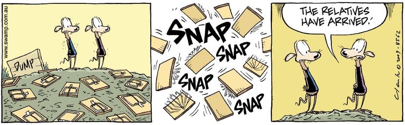 Swamp Cartoon - Relative Problems 2February 13, 2009