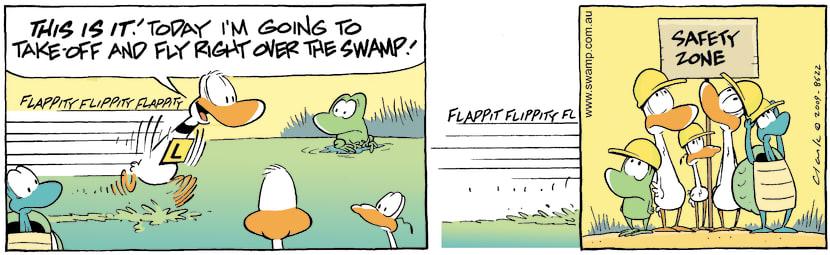 Swamp Cartoon - Up up and Down 2April 24, 2009