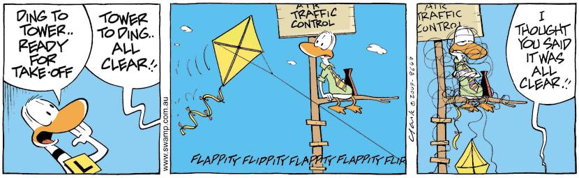 Swamp Cartoon - Another Day Another CalamityMay 19, 2009