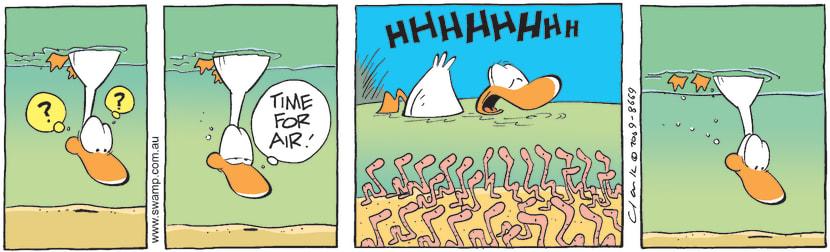 Swamp Cartoon - The Worm has Turned 2June 18, 2009