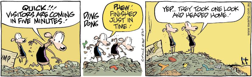 Swamp Cartoon - Good DeterentJuly 27, 2009