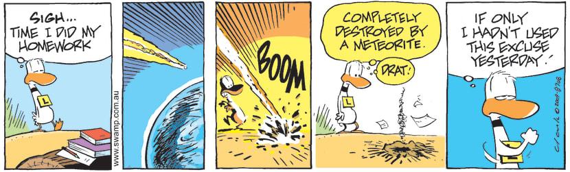 Swamp Cartoon - Ding Duck HomeworkAugust 3, 2009