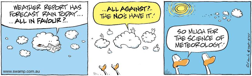 Swamp Cartoon - Clouds Confer on WeatherSeptember 15, 2009