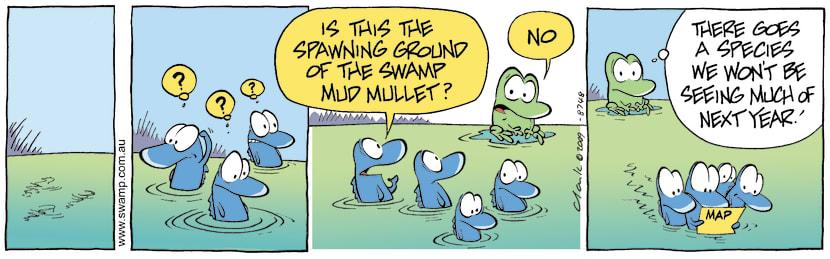 Swamp Cartoon - Mud Mullet SpawningSeptember 18, 2009
