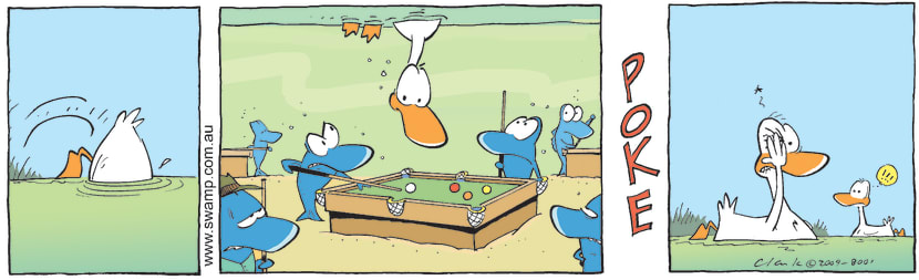 Swamp Cartoon - Rude BehaviourNovember 19, 2009