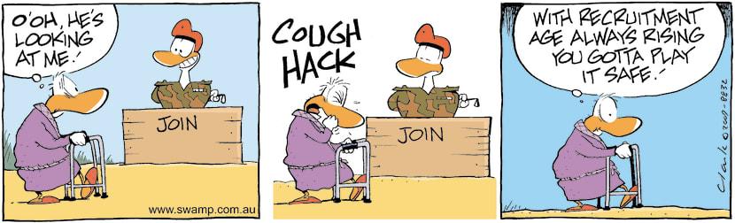 Swamp Cartoon - Potential Army RecruitDecember 25, 2009