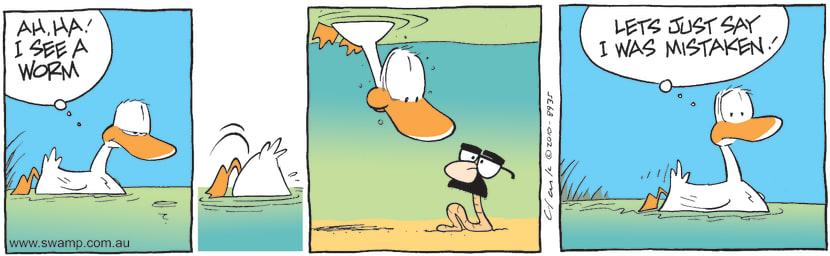 Swamp Cartoon - Tricky WormApril 24, 2010